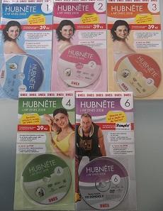 Kolekce Hubněte s MF Dnes 2008 - 5 DVD
