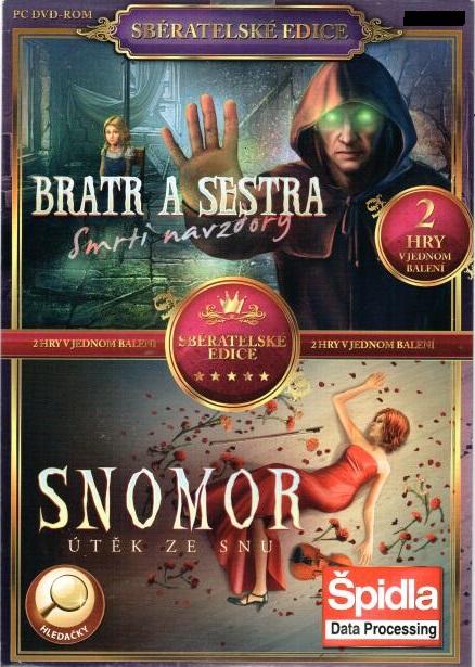 PC hra Bratr a sestra -smrti navzdory / Snomor - útěk ze snu - pošetka