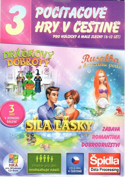 PC hra Dráčkovy dobroty / Síla lásky/ Rusalka a kouzelná perla - pošetka