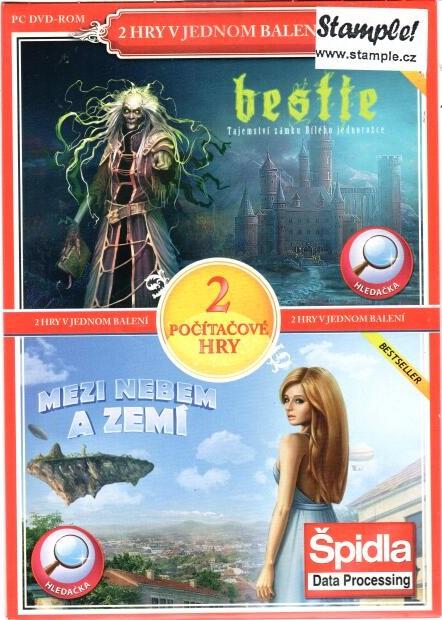 PC hra Bestie:tajemství zámku Bílého jednorožce / Mezi nebem a zemí - pošetka