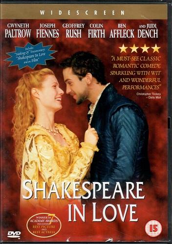 Shakespeare in love / Zamilovaný Shakespeare ( originální znění s CZ titulky ) - plast DVD