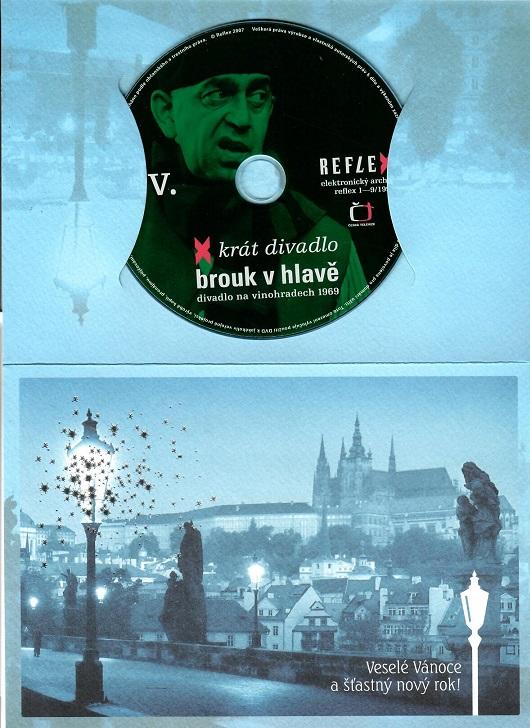 Brouk v hlavě - X - krát divadlo ( dárkový papír obal ) - DVD