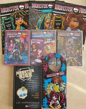 Kolekce Monster High - 3 DVD+1 kniha+4 časopisy