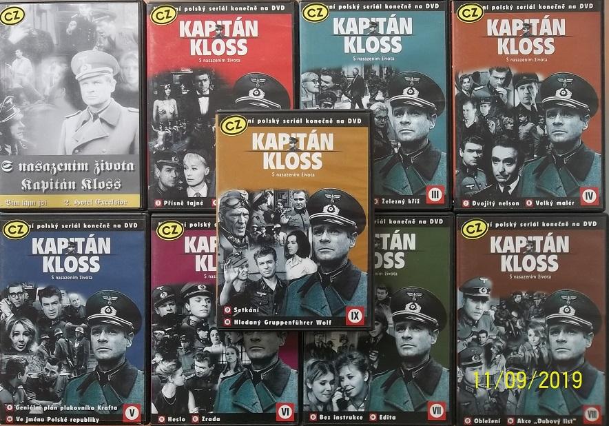 Kolekce Kapitán Kloss 9DVD ( plast )