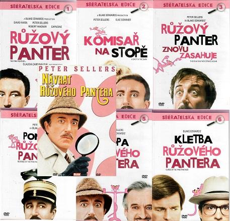 Kolekce Růžový panter - 7 DVD