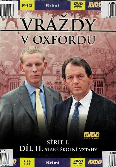 Vraždy v oxfordu, série 1, díl 2 - Staré školní vztahy ( pošetka ) - DVD