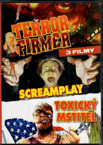 3 filmy - Terror firmer / Screamplay / Toxický mstitel ( plast ) - DVD