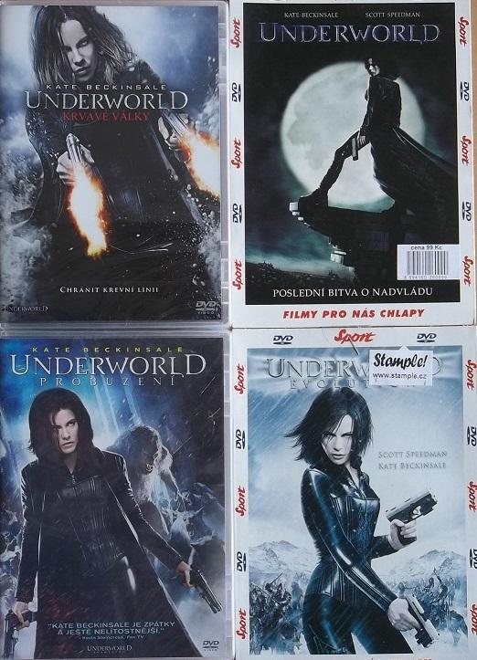 Kolekce Underworld 4 DVD ( kompletní )