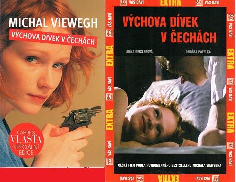 Výchova dívek v Čechách - Michal Viewegh ( 1x kniha bazarová + DVD )