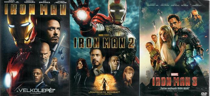 Kolekce Iron Man 3x DVD plast
