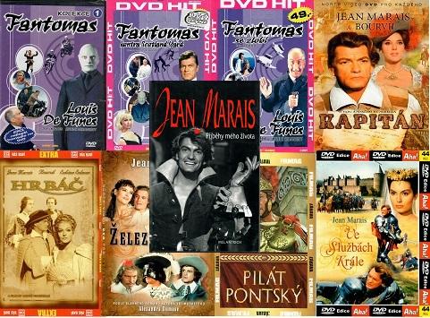 Knižní kolekce Jean Marais : Příběhy mého života ( 1x kniha bazarová + 8x DVD )