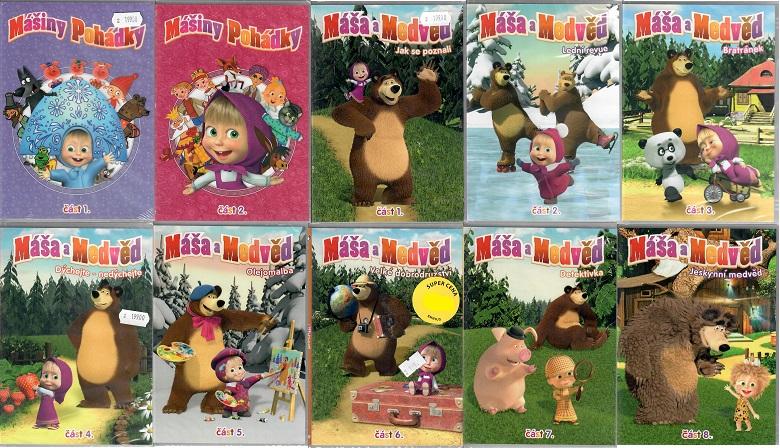 Velká kolekce Máša a medvěd ( 10x DVD )