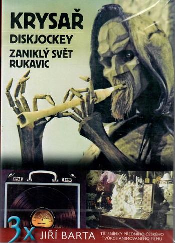 3x Jiří Barta: Krysař/ Diskjockey / Zaniklý svět rukavic ( plast ) DVD