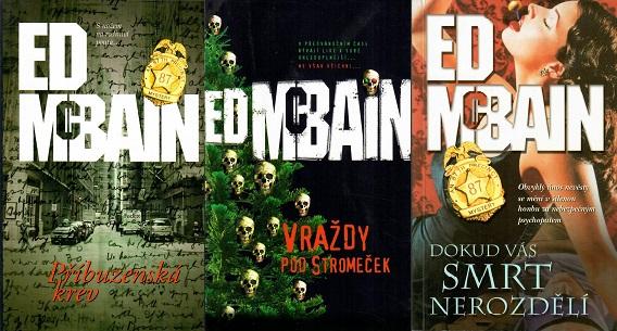 3x ED McBain - Příbuzenská krev / Vraždy pod stromeček / Dokud vás smrt nerozdělí ( bazarové zboží )
