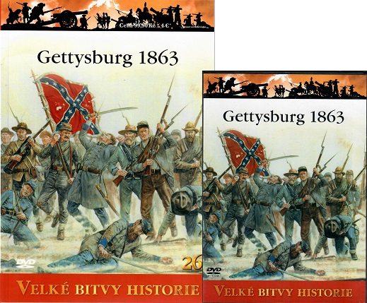 Velké bitvy historie 26 - Gettysburg 1863 ( časopis + DVD )