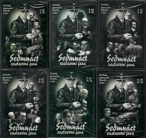 Kolekce Sedmnáct zastavení jara - 6x DVD plast KOMPLET díly 1-12