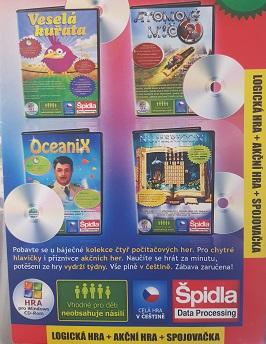 PC hra 4x/Veselá kuřata,Atomový míč ě,Oceanix,Numericon/