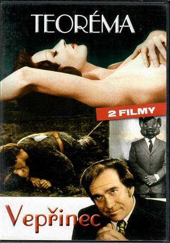 2 filmy: teoréma / Vepřinec ( originální znění, titulky CZ ) plast DVD