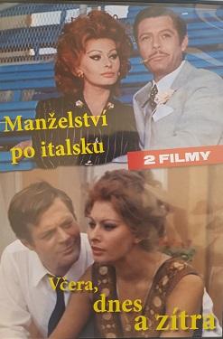 Manželství po italsku/Včera,dnes a zítra-DVD 2 filmy/plast