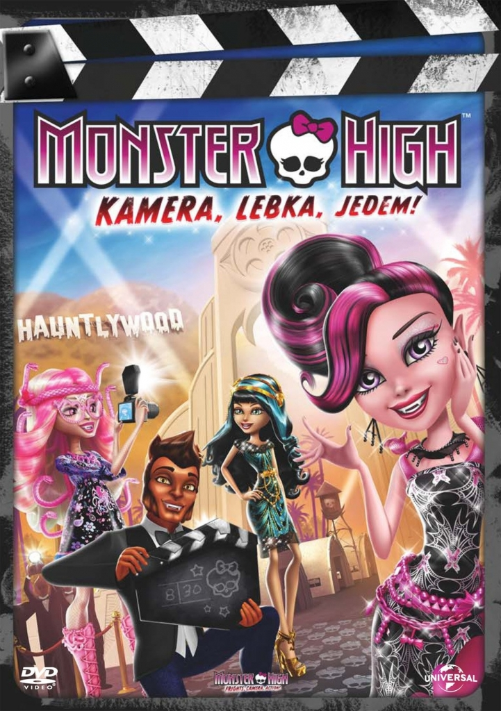 Monster High: Kamera, Lebka, Jedem!DVD plast