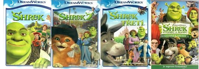 Kolekce Shrek - 4 DVD