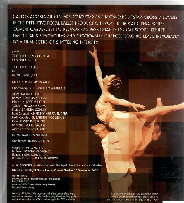 Romeo & Juliet: the royale ballet ( plast ) DVD