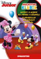 Mickeyho klubík Mickey a Minnie na safari v džungli, clarabellin klubíkový muziká-DVD plastl