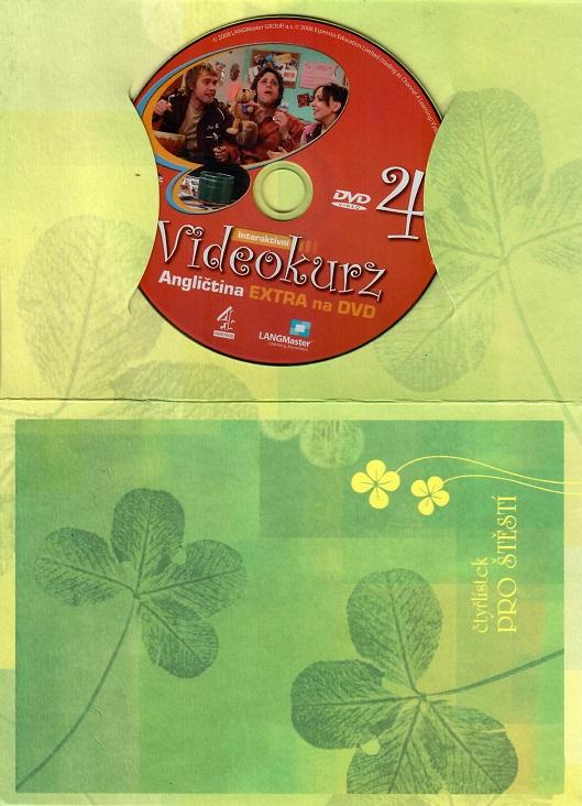 Videokurz 4 -  angličtina Extra na DVD ( dárkový papír obal )