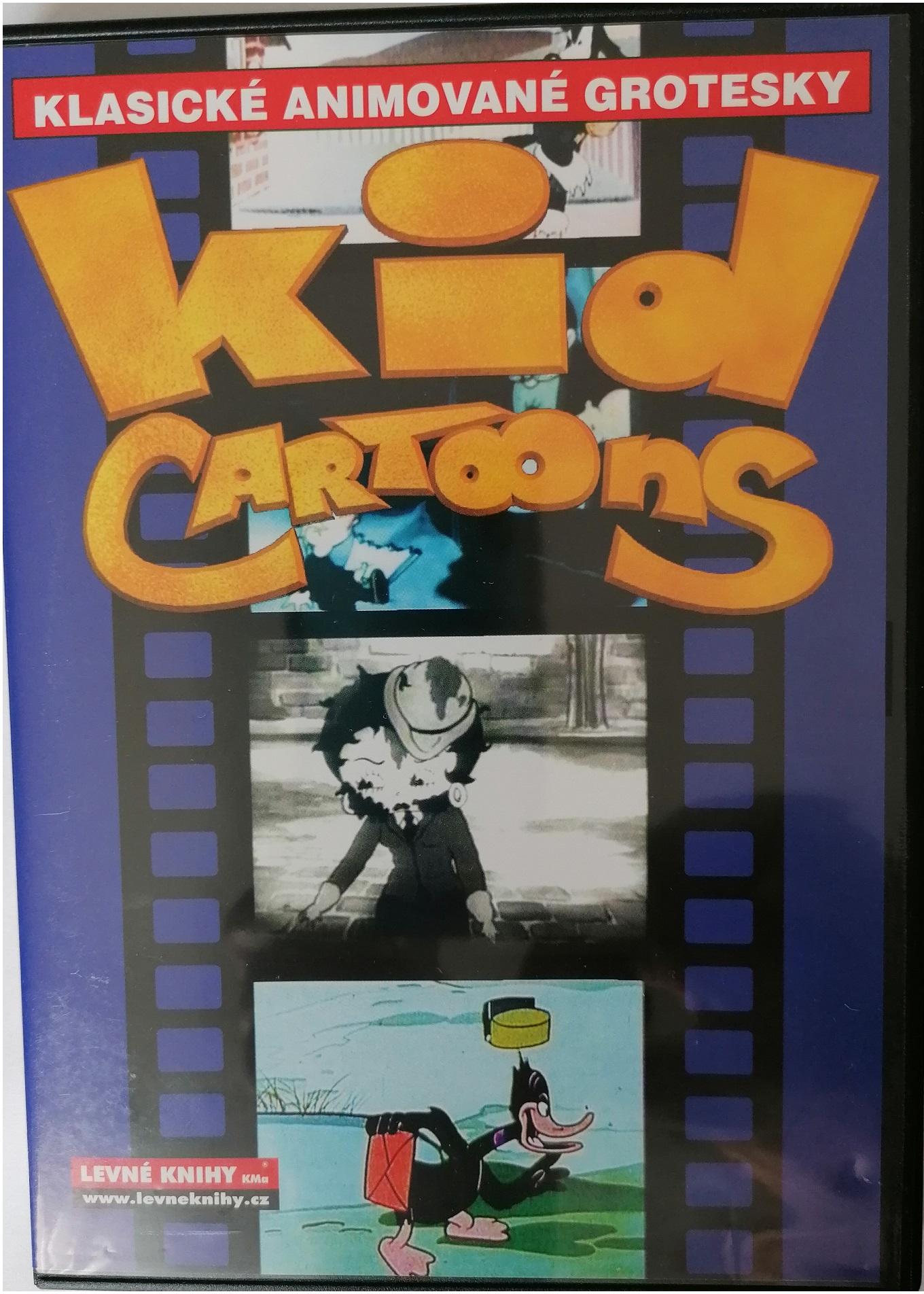 Klasické animované grotesky - Kid cartoons - DVD plast ( modré )