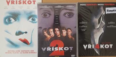 Kolekce Vřískot 3 DVD /nekompletní díl 1,2,4