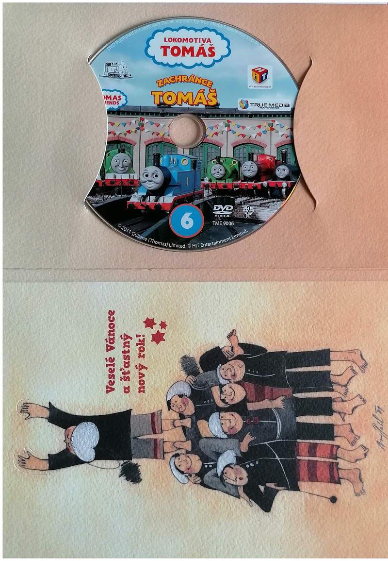 Lokomotiva Tomáš - Zachránce Tomáš - DVD - dárková obálka