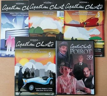 Kolekce Hodina s Agathou Christie 1,2,3,5 DVD + dárek DVD Poirot 39