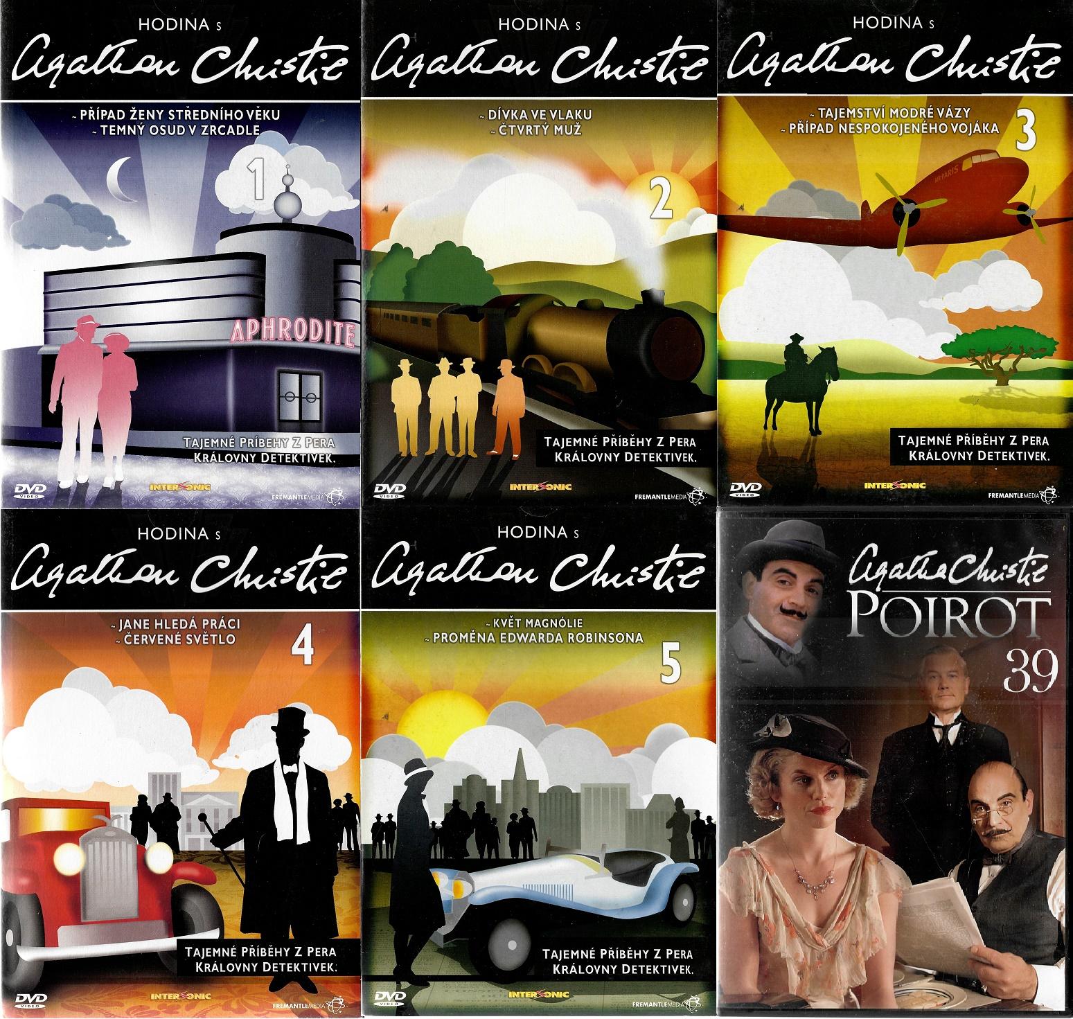 Kolekce Hodina s Agathou Christie 5 DVD + dárek DVD Poirot 39
