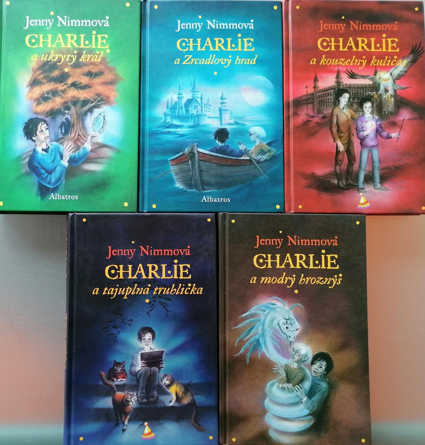 Knižní kolekce Charlie od Jenny Nimmová- 4x nová kniha +1x bazarová