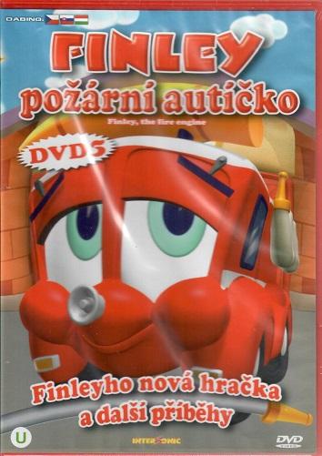 Finley - požární autíčko 5: Finleyho nová hračka a další příběhy ( plast ) DVD