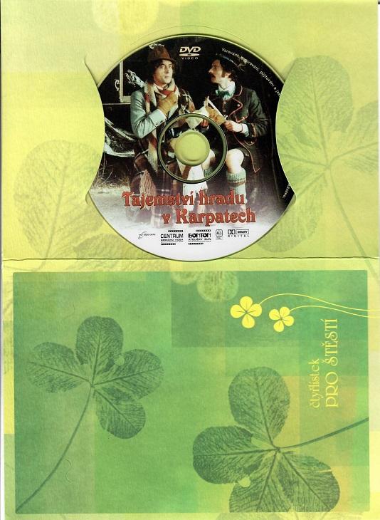 Tajemství hradu v Karpatech ( dárkový papír obal ) DVD
