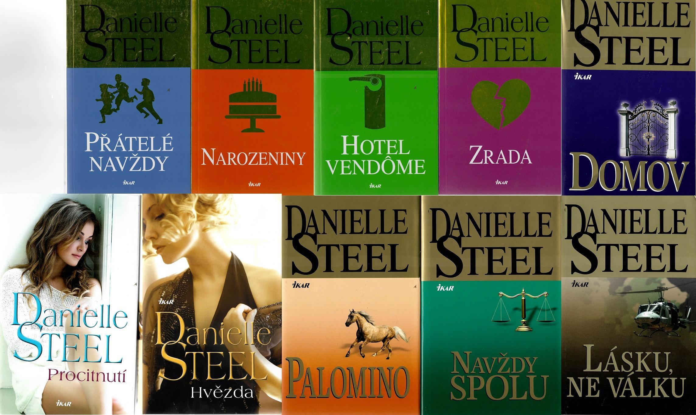 Kolekce knih Danielle Steel 1. - 10x