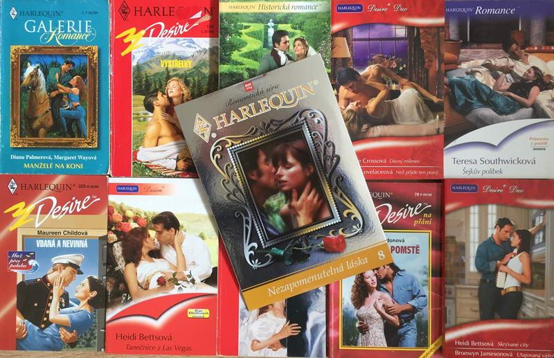 Velká knižní kolekce Harlequin XXVI. - 10x bazarová kniha + DVD dárek zdarma