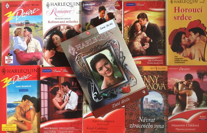 Velká knižní kolekce Harlequin XXVII. - 10x bazarová kniha + DVD dárek zdarma