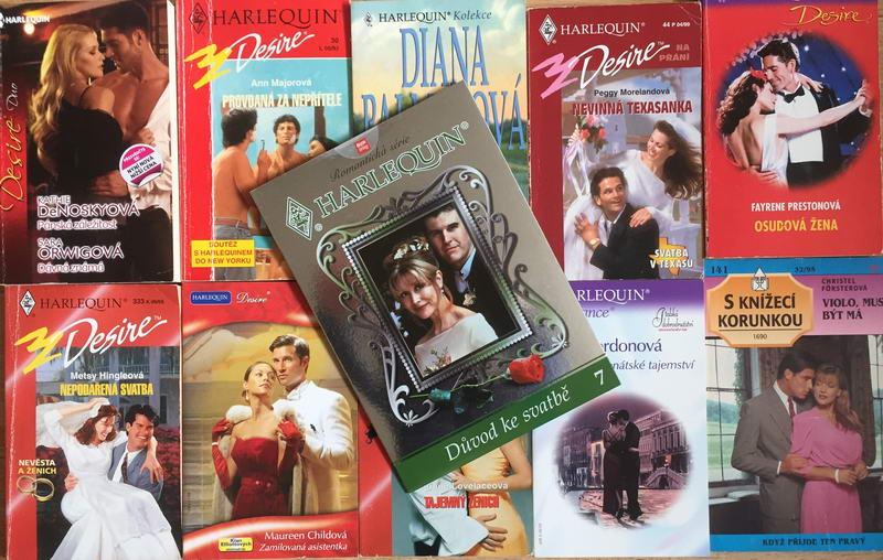 Velká knižní kolekce Harlequin XXVIII. - 10x bazarová kniha + DVD dárek zdarma