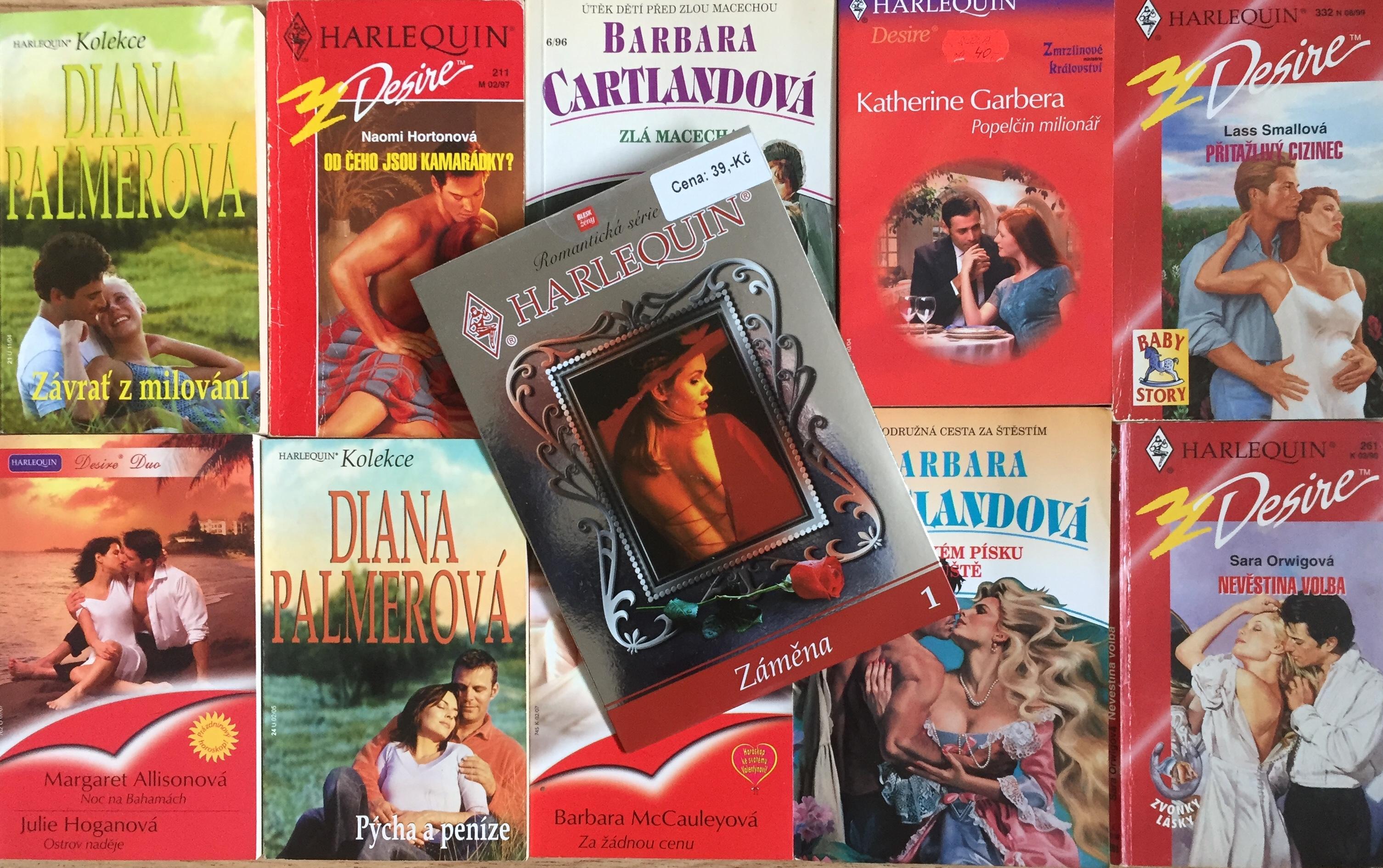 Velká knižní kolekce Harlequin XXIX. - 10x bazarová kniha + DVD dárek zdarma