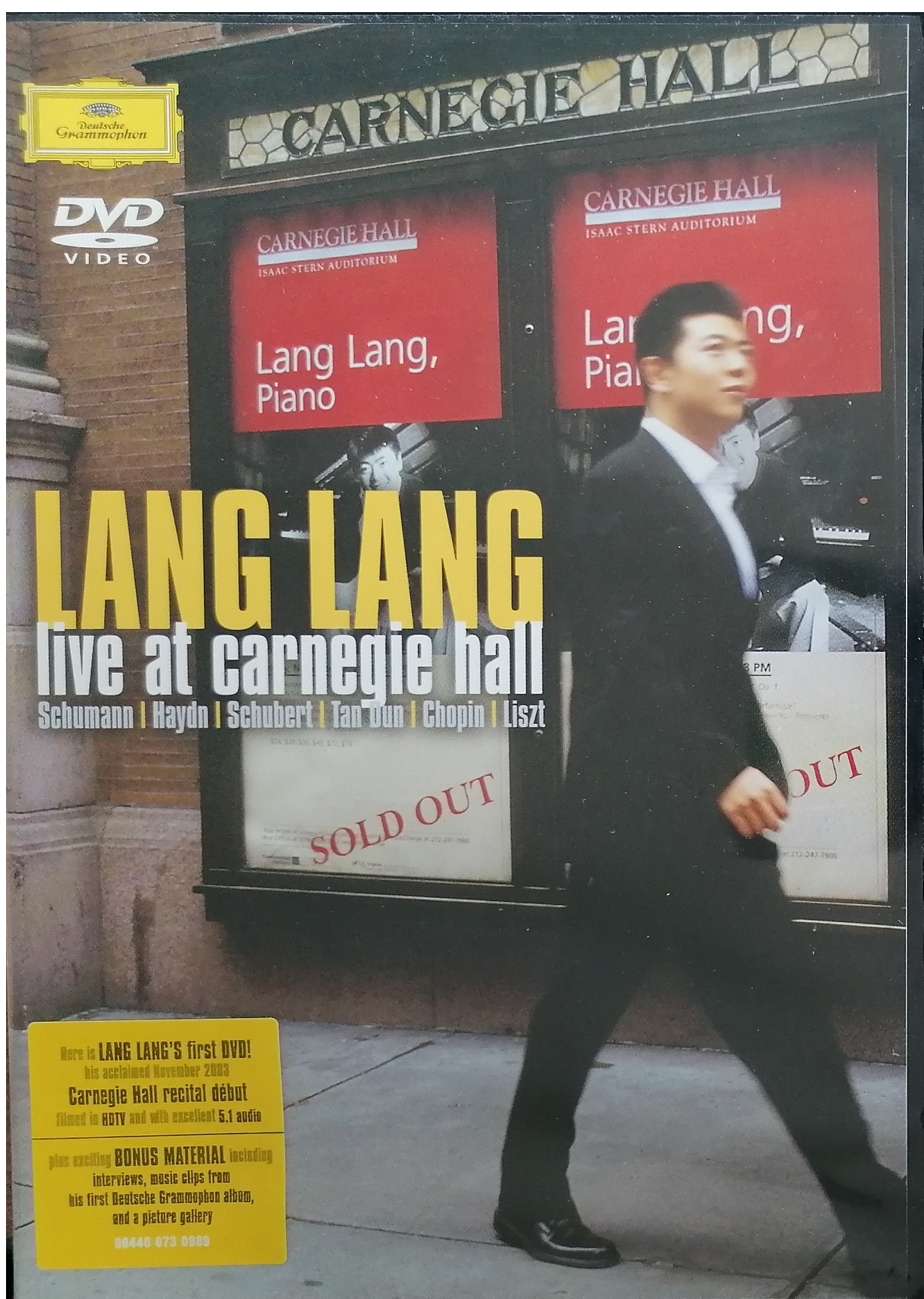 LANG LANG - Live at carnegie hall - DVD plast