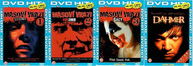 kolekce Masoví vrazi 4x DVD - papírové pošetky