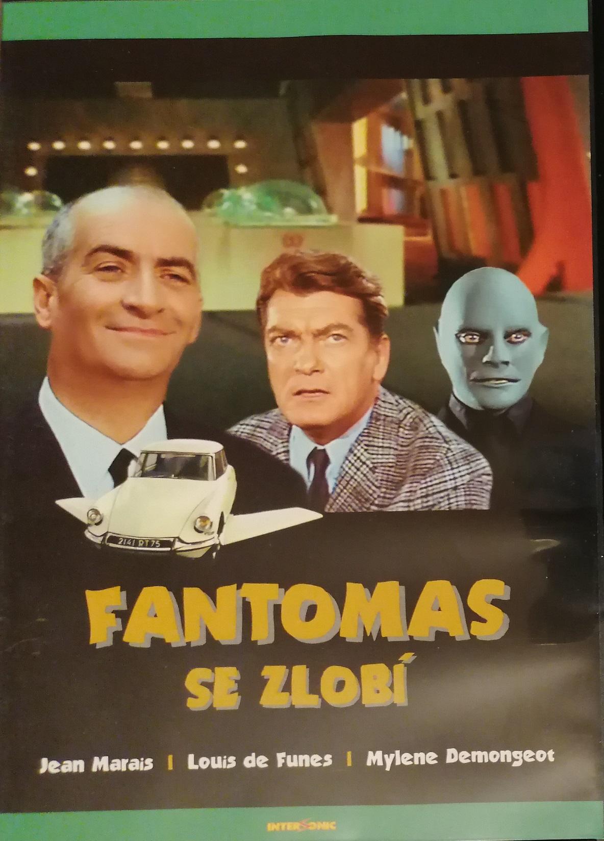 Fantomas se zlobí - DVD plast