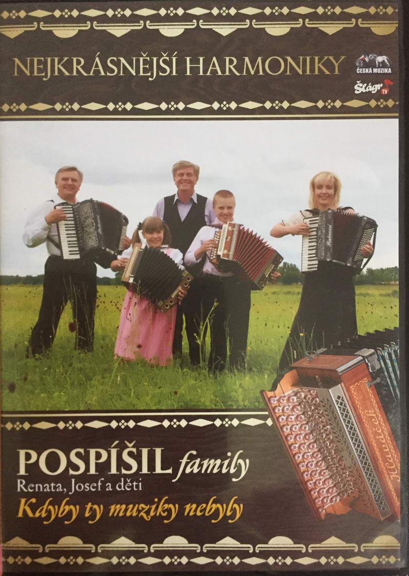 Pospíšil family - Nejkrásnější harmoniky - DVD plast