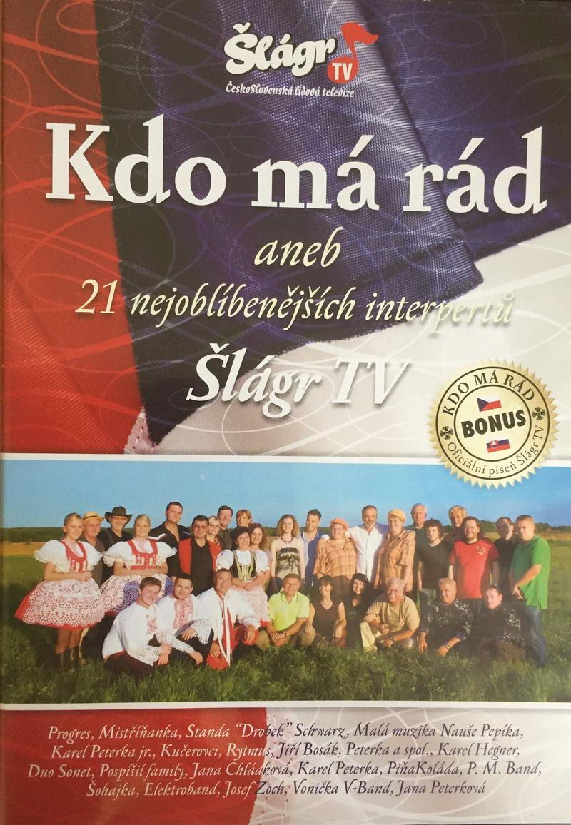 Šlágr TV - Kdo má rád aneb 21 nejoblíbenějších interpretů - DVD plast