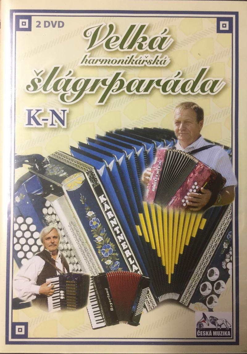 Velká harmonikářská šlágrparáda K-N - 2 x DVD plast