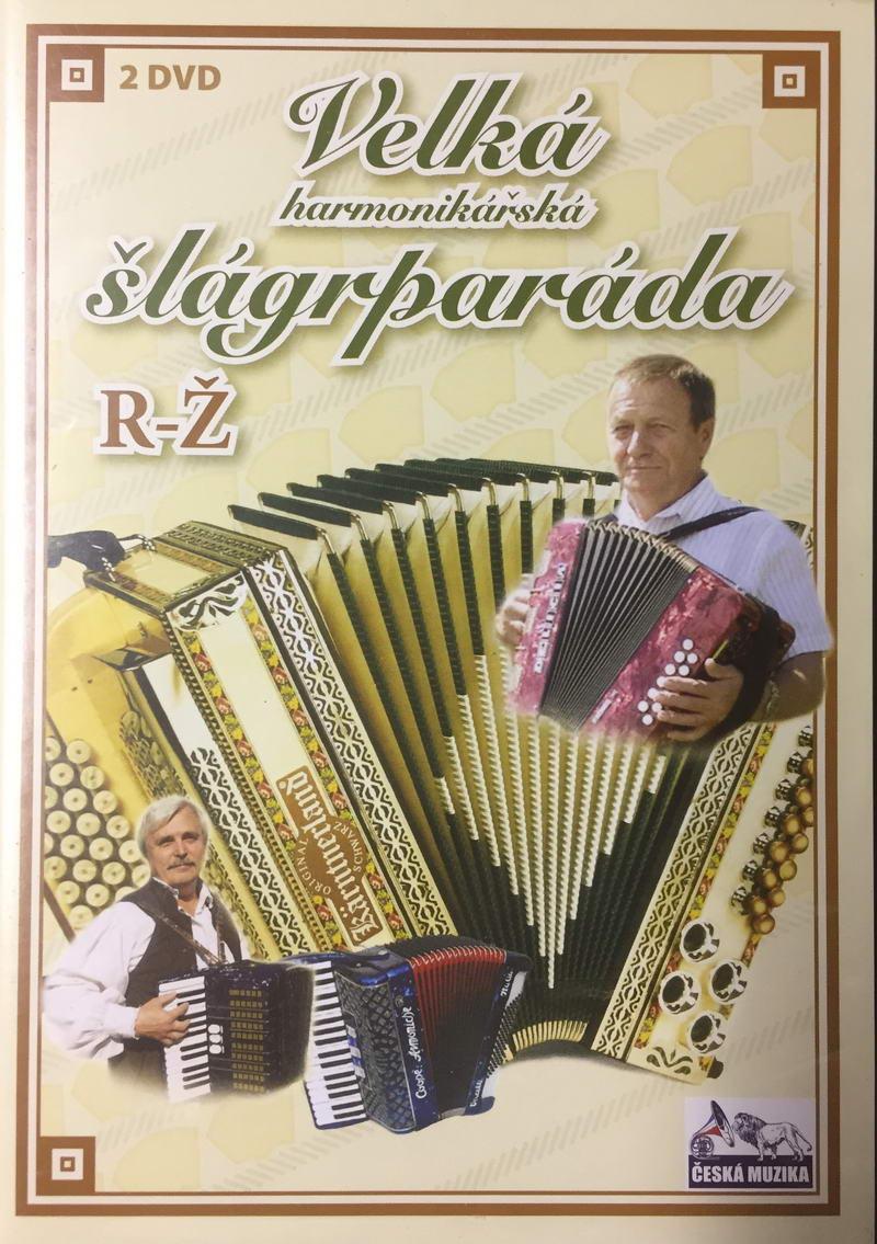 Velká harmonikářská šlágrparáda R-Ž - 2 x DVD plast