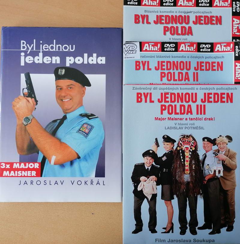 Byl jednou jeden polda - Jaroslav Vokřál - 1x bazarová kniha + 3x DVD