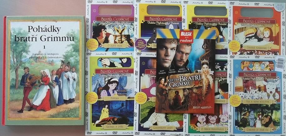 Pohádky bratří Grimmů 1 ( 1x kniha bazarová + 8 CD +1 DVD )